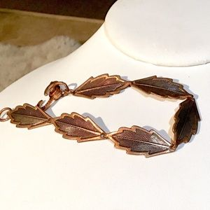 🌺VINTAGE Copper Leaf Bracelet